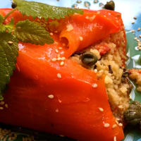 Couscous Stuffed Pepper step 5