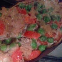 Barchette di melanzane ripiene con tonno