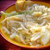 Ensalada de verano de hinojo con olor a limón