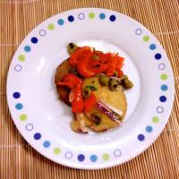 Seitán la salsa de tomate colorido