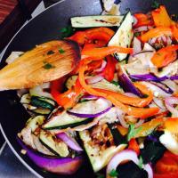 Piadina vegetariana arco iris paso 4