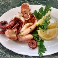 Octopus roasted in the oven