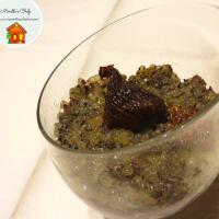 Pudín de tapioca con semillas de amapola, higos y limón