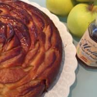 Tarta de manzana sin mantequilla con canela y miel