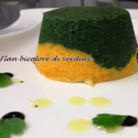 Two-colored vegetable flan