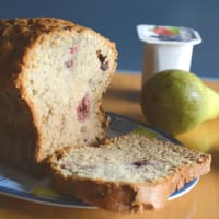 Banana bread with wild fruits