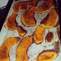 Baked pumpkin, fat