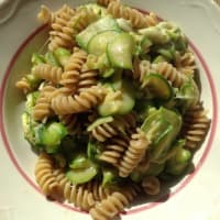 Fusilli integrals bio courgette and scamorza