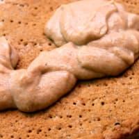 Tart vegan alimentos crudos escribe con mermelada paso 1