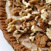 Tart vegan alimentos crudos escribe con mermelada paso 2