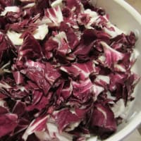 Penne with radicchio, walnuts and ricotta step 1