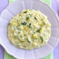 Risotto with zucchini and philadelphia