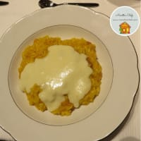 Pumpkin Risotto with Taleggio cheese and bacon fondue