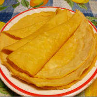 Crepes con harina de garbanzo