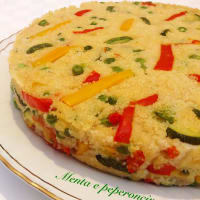 couscous cake with vegetables