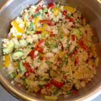 pastel de cuscús con verduras paso 15