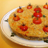 Cake quinoa and vegetables