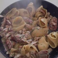 Lumaconi la salsa de pescado paso 8