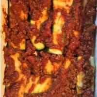 flan de calabacín, salsa de carne con especias y queso ahumado paso 6