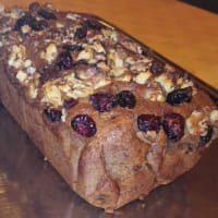 Plumcake vegan with chestnut flour and dried fruit