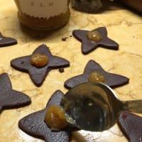 Galletas de mantequilla con mermelada de naranja con Nutella paso 4