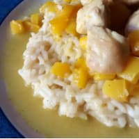 Risotto with chicken curry