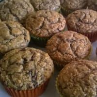 Muffin banana cocco e cioccolato fondente