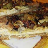 vegana casera de pasta brise alcachofas'