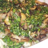 setas en salsa verde