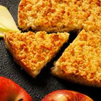 Desmenuzar con manzanas y ciruelas