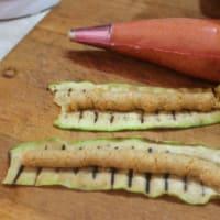 Trino de calabacín a la plancha y verduras anacardo queso paso 5