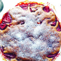 Las fresas pastel sin mantequilla y sin huevos