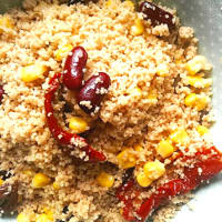 cous cous de espelta con verduras y legumbres