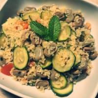 Ful medames warm salad of broad beans and bulgur