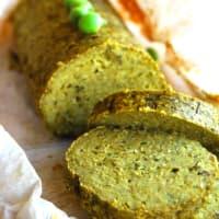 guisantes vegetariana pastel de carne