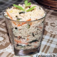 Cous cous zucchini and mint