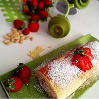 ricotta girella y fresas paso 9