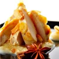 Pollo agridulce con costra de miel