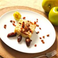 cuscús frutas y manzanas secas