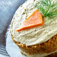 Raw food cake carrot and pumpkin