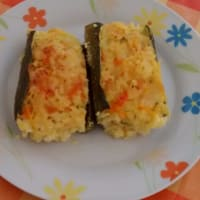 Stuffed zucchini diriso