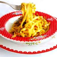 Le tagliatelle carciofi e pancetta