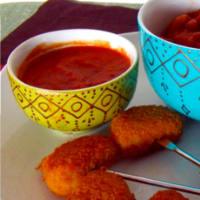 Bocconcini con salsa messicana enchilada