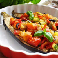 Eggplant stuffed with vegetables