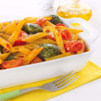 Penne al forno con polpettine di spinaci
