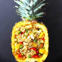 Arroz y verduras allananas tailandés