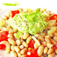 bean salad with cream allavocado