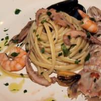 Linguini con sabor a marisco