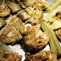 Artichokes baked light
