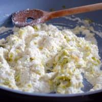 Conchas con crema de almendras y con sabor a limón puerro paso 6